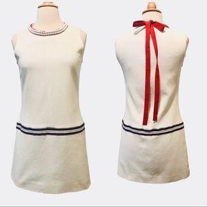 D&G Dolce Gabana Embellished Neck Shift Dress 8